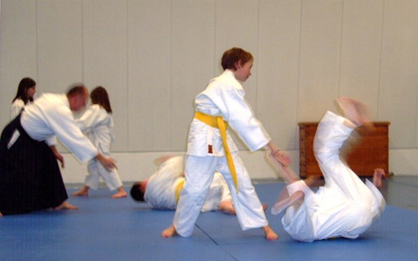 Wacker Mecklenbeck: Trainingssituation Aikido
