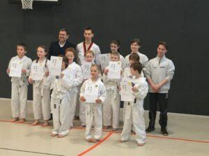 Gruppenbild Kindergruppe Taekwondo Wacker Mecklenbeck