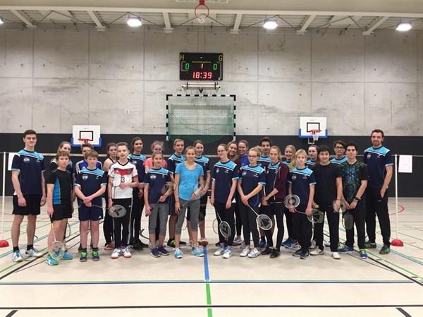 Mannschaftsfoto Wacker Mecklenbeck Badminton